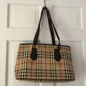 Burberry Plaid Tote